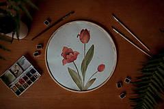 Obrazy - kruhový obraz TULIPÁNY - 13574202_