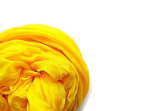 """Šály - """"brutal yellow"""" hodvábny šál (pléd, štóla) SKLADOM - 13574483_"""