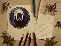 Papiernictvo - pohľadnica: L í š k a dáva dobrú noc - 13576500_