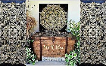 Obrazy - SVADOBNÁ MANDALA LÁSKY a ŠŤASTNÉHO ŽIVOTA❤️originálny dar pre novomanželov,talizman,energetický obraz - 13576189_