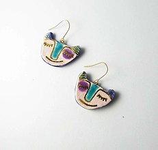 Náušnice - Tana šperky - keramika/zlato - 13575660_