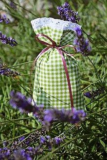 Úžitkový textil - Vrecúško / vrecko na levanduľu - 13576132_