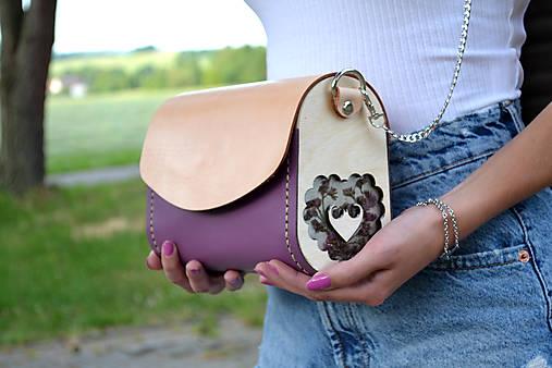 Kožená kabelka Margarétka a živé kvety