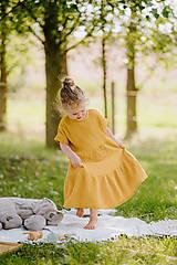 - Detské mušelínové šaty Anička - 13576420_