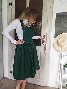 Sukne - Ľanová sukňa - 13575402_