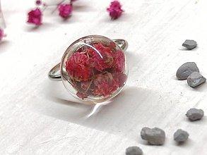 Prstene - Prsteň kvetoláska malinová - 13578599_