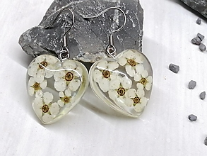 Náušnice - Náušnice kvetoláska srdce spirea - 13578670_