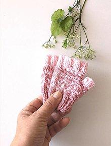 Detské doplnky - Detské bezprstové rukavičky staroružové - 13578055_
