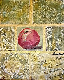 Obrazy - Červené jabĺčko - 13578896_
