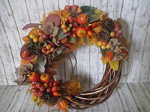 Dekorácie - Jesenný venček - 13577323_