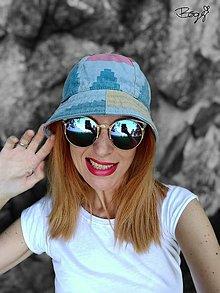 Čiapky - retro plátěný klobouk, jaro/podzim - 55/56cm - 13578842_