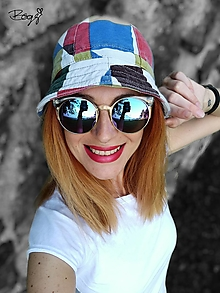 Čiapky - retro plátěný klobouk, jaro/podzim - 52/53cm - 13578864_