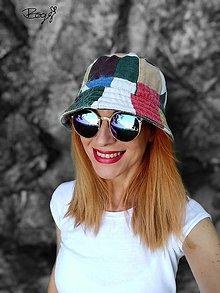 Čiapky - retro plátěný klobouk, jaro/podzim - 54/55cm - 13578874_