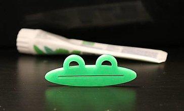 Pomôcky - Vytláčatko na zubnú pastu - žabka - 13577211_