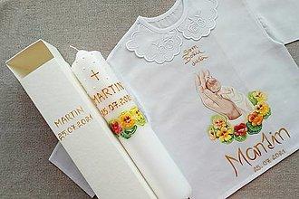 Detské oblečenie - Set do krstu- Kapucínkový s dieťatkom v dlani - 13582498_