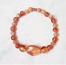 Náramky - Slnečný kameň- náramky - 13579623_