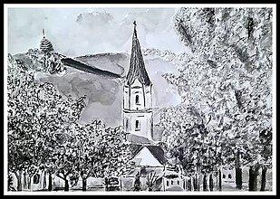 Kresby - Nitra, pohľad na Pyramídu - 13579557_