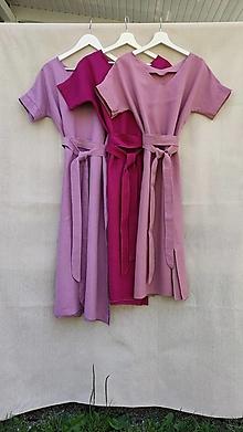 Šaty - Ľanové šaty 2v1 - 13582752_