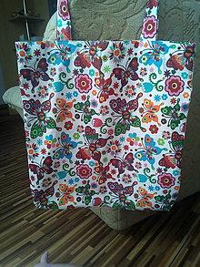 Nákupné tašky - Textilná nákupná ekotaška - 13581001_