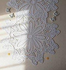 Úžitkový textil - Zobúdzanie motýĺov, 76 x 36,5 cm - 13579559_