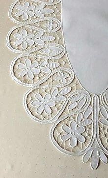 Úžitkový textil - Richelieu- Slávnostná, biela, 107,5 x 62 cm - 13579782_