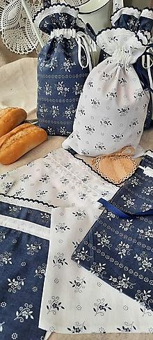 Úžitkový textil - Bavlnené vrecko do domácnosti_  modrotlač - 13579896_