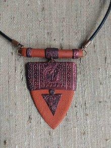 Náhrdelníky - Medený náhrdeľník - 13582580_