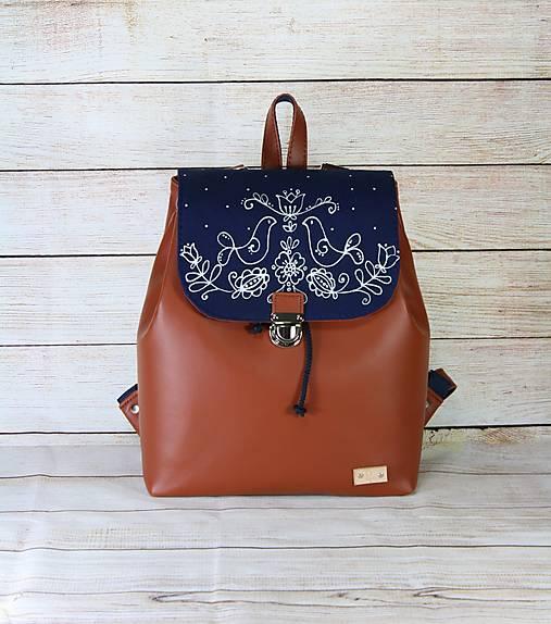 Modrotlačový batoh Matej hrdzavý AM 1