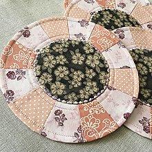 Úžitkový textil - prestierania malé ružové - 13579920_