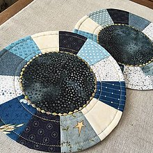 Úžitkový textil - prestierania malé modré - 13579991_