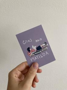 Papiernictvo - Nálepka Čítaj ako Matilda, Roald Dahl - 13579792_