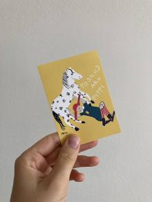 Papiernictvo - Nálepka Posiluj ako Pippi, Astrid Lindgren - 13579819_