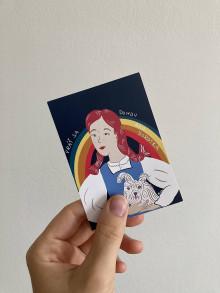 Papiernictvo - Nálepka Vráť sa domov ako Dorotka, Čarodejník z krajiny Oz - 13579880_