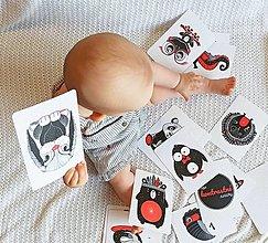 Detské doplnky - moje KONTRASTNÉ kartičky - 13582075_