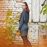 Šaty - Sportovní šaty Contrast (šedo modrá) - 13580089_