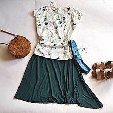 Sukne - Smaragd - 13580066_
