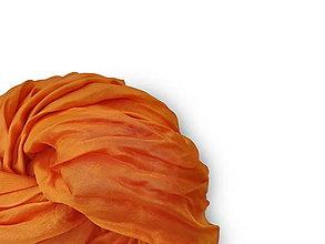 """Šály - """"orange light"""" hodvábny šál (pléd, štóla) SKLADOM - 13580546_"""