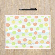 Nezaradené - Relaxačná obrysovka fruit colour - jabĺčka - 13580055_