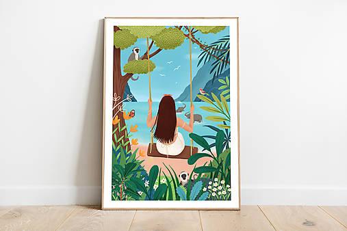 Sloni - umělecký tisk