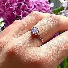 Prstene - Natural Tanzanite Ag925 Silver Rose Gold Plated Ring  / Strieborný prsteň s prírodným tanzanitom - 13584417_