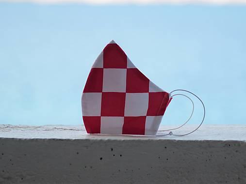 Dizajnové rúško Croatia tvarované dvojvrstvové