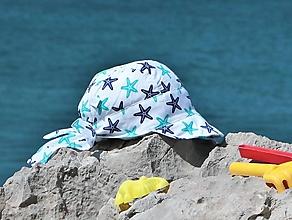Detské čiapky - Letný detský šilt hviezdice - 13583072_