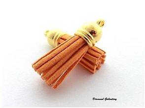 Komponenty - Strapcový prívesok 38 mm - pomaranč - 13583540_