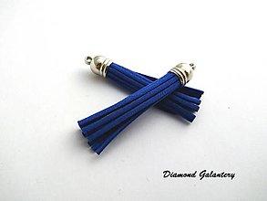 Komponenty - Strapcový prívesok 58 mm - kráľovsko modrý so striebornou hlavičkou - 13583602_