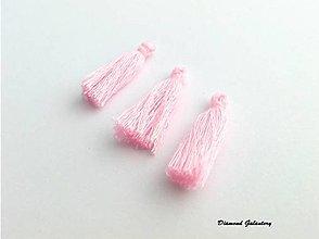 Komponenty - Strapcový prívesok 27 mm - ružový - 13583643_