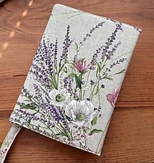 Papiernictvo - obal na knihu režné kvetiny - 13585125_