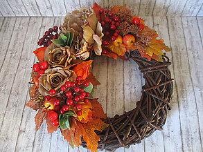 Dekorácie - Jesenný veniec - 13585655_