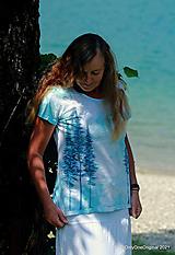 Topy, tričká, tielka - Dámske tričko batikované, maľované HOROU ♀ - 13584721_