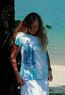 Tričká - Dámske tričko batikované, maľované HOROU ♀ - 13584721_