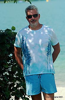 Tričká - Pánske tričko, batikované, maľované HOROU ♂ - 13584860_